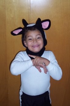 My son Josh (a few years ago) was apparently tickled to be a cow!