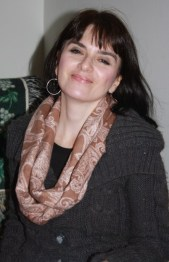 My beautiful sis-in-law Dawn, wearing her infinity scarf