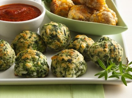 Spinach Cheese Balls, Photo Credit: BettyCrocker.com