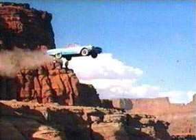 Famous cliff jumpers: Thelma & Louise