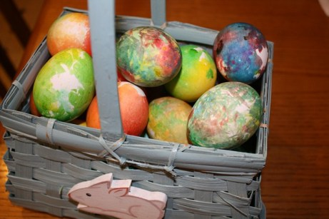 Just like your favorite t-shirts: tie-dye Easter eggs.