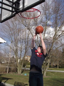 Seth dunking the ball!