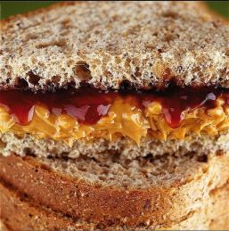 Lunchbox staple--good old PB&J
