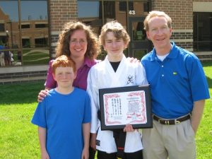 Nick received his First Degree Black Belt last spring.