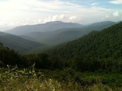 The Blue Ridge Mountains of Shenandoah National Park