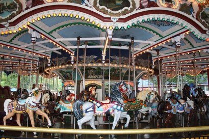 The classic carousel at Hershey Park is the one pictured at the top of our website!