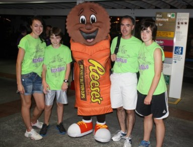 You're never too old for a photo with the Hershey's characters!