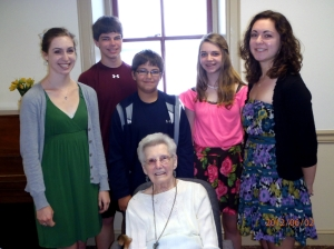 My mom with her grandchildren at her 90th Birthday Party - May 2012!