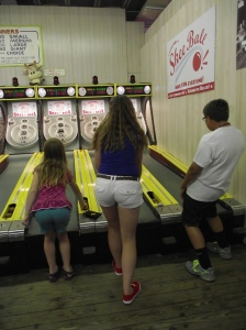 "Skee Ball at Funland!  The best ""gaming"" value there at $.25 per game!"