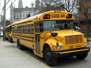 Here comes the bus... Source: Wikimedia Commons