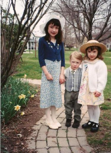 One of my favorite photos of all time, Easter 2002, when my son was truly the smallest one in the family.