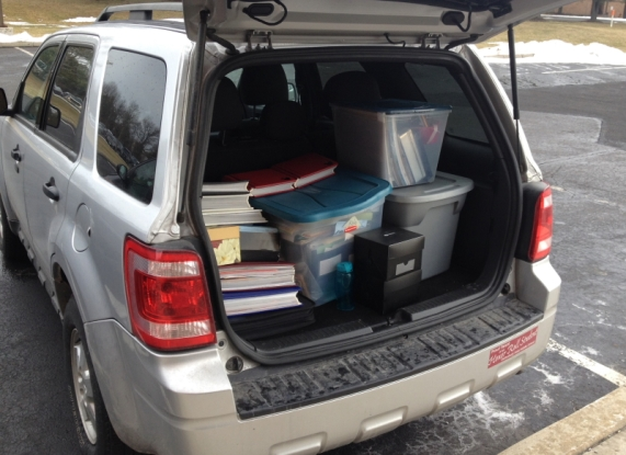 And this is what a scrapbooker's car looks like... all packed up and ready to head home. Great memories!