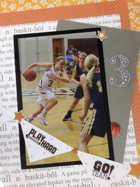 This scrapbook page by my friend Paula is a slam dunk!