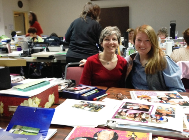 Scrapbooking smiles... Ruth and I