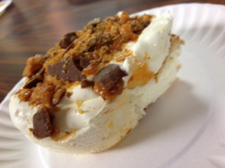 Saturday night's dessert... Butterfinger Angel Food Delight