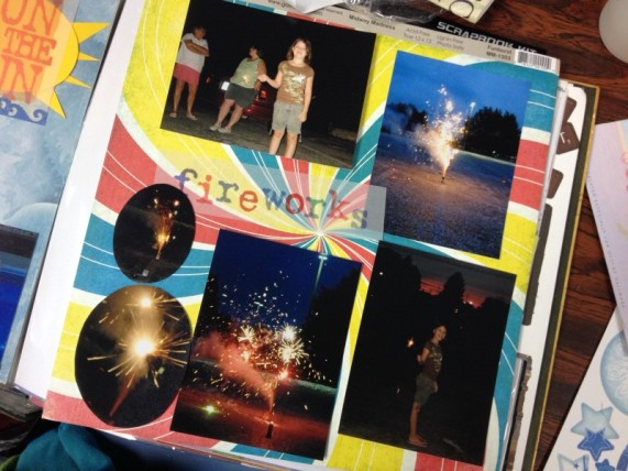 Heather's creativity sparked a spectacular fireworks page!