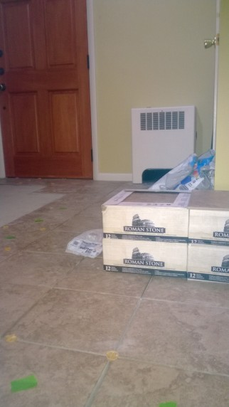 "We spared no expense on our new tile flooring - the only part of our renovation where we did not ""recycle."""