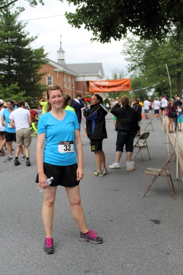 After the race: Still smiling!