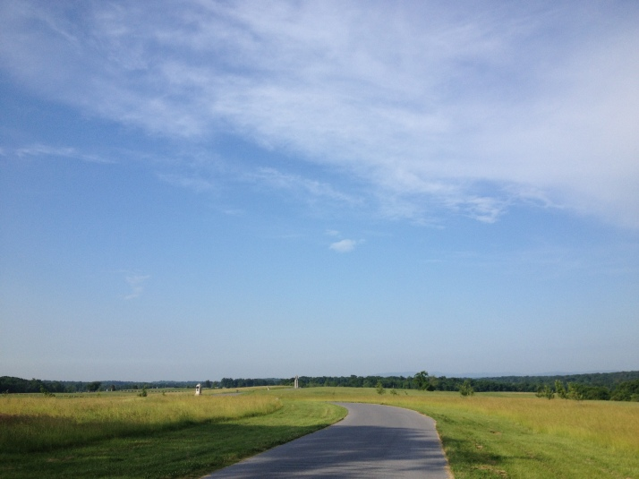 Looking across the Gettysburg Battlefield, on the Spirit of Gettysburg 5K race course