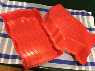Double Delight: the famous Jell-O flag mold as well as the USA (picture it in Jello-O)!