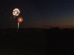 4th of July fireworks across the Gettysburg Battlefield